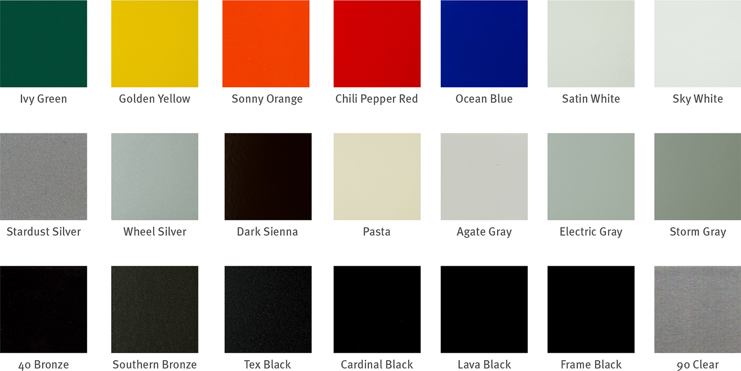 Powder Coating Color Charts Georgia Powder Coating